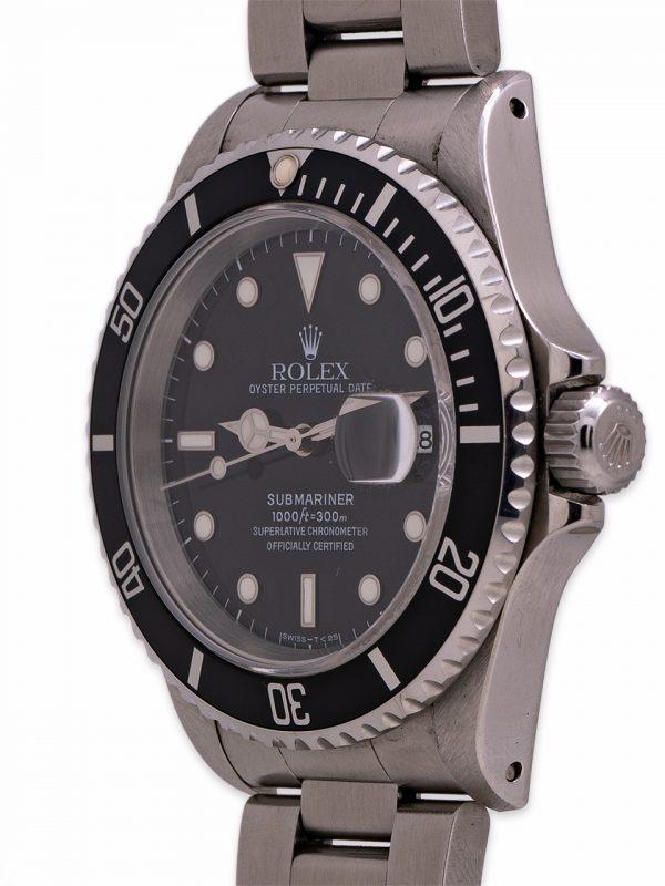 Rolex Submariner ref# 16610 Stainless Steel circa 1996 EXCEPTIONAL!