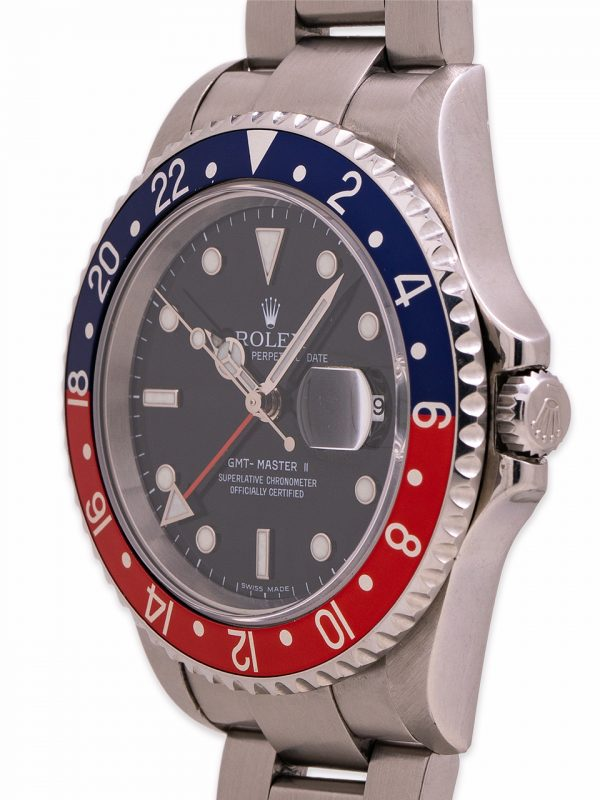 "Rolex GMT II ref 16710 Pepsi ""Stick Dial"" circa 2002"