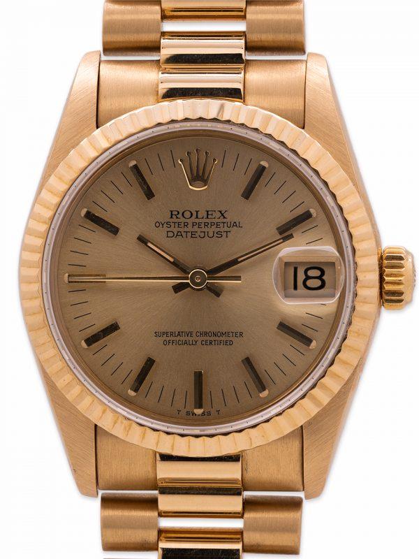 Rolex 18K YG Midsize President circa 1988