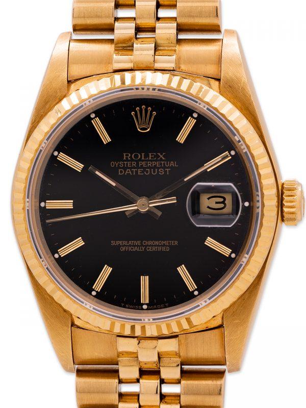 Rolex Datejust 18K YG ref 16018 circa 1980 Sticker!