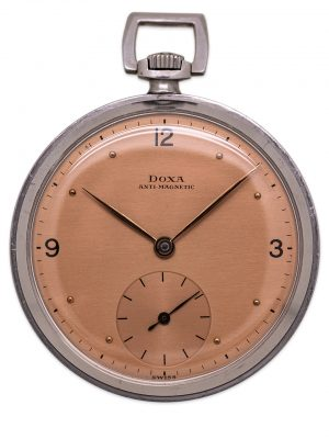 Doxa Industrial Design Dress Pocket Watch circa 1940's