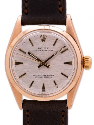 Rolex 18K PG Oyster Perpetual Midsize ref 6549 circa 1956