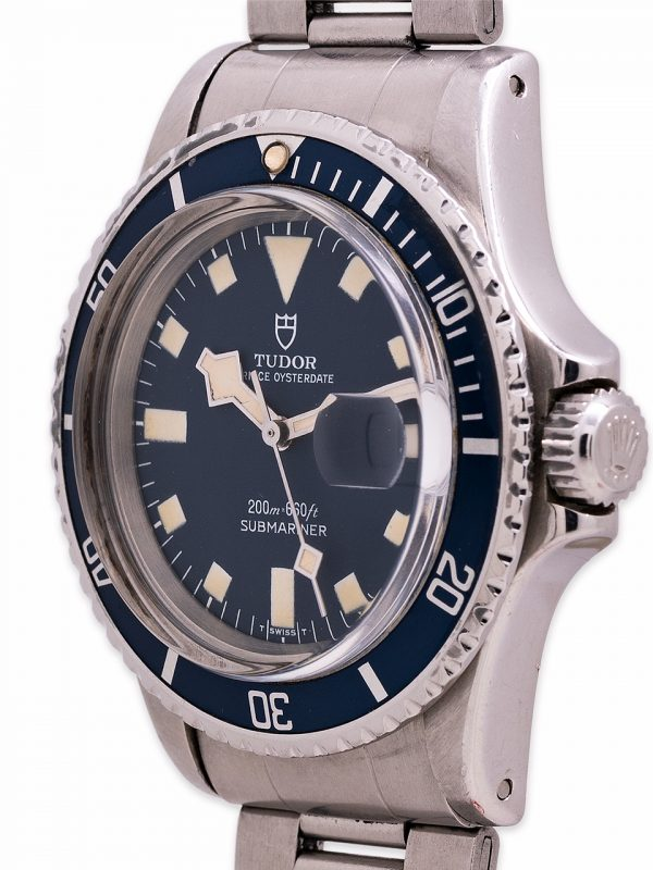 "Tudor ""Snowflake"" Submariner Blue w/ Date ref# 9411/0 circa 1978 Box & Papers"
