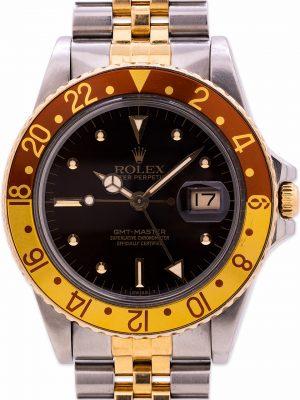 Rolex GMT ref 16753 SS/18K YG Rootbeer circa 1982
