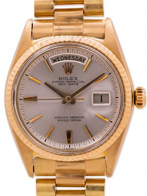 Rolex 18K YG Day Date ref# 1803 Pie Pan Dial circa 1963