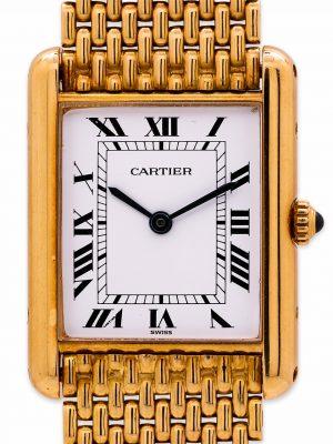 Cartier Man's 18K Gold Tank Louis w/ Bracelet circa 1990's