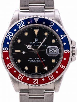 """Rolex GMT 1 ref 16700 """"Pepsi"""" Tritium circa 1990"""