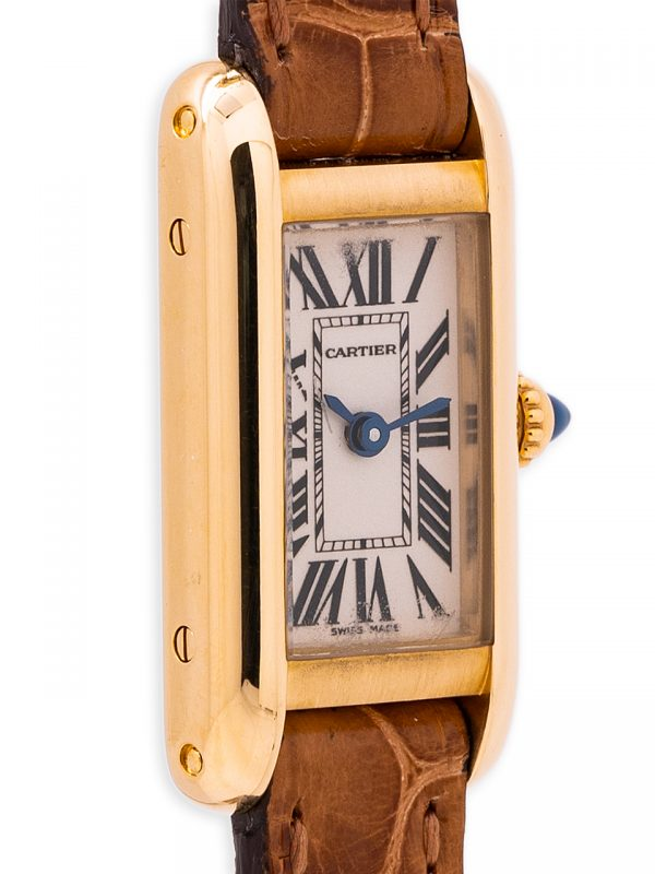 Cartier Lady Tank Alongée 18K YG circa 1990's Box & Guaranty