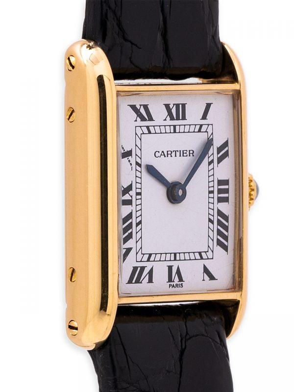 """Cartier Lady """"Mini"""" Tank Louis 18K YG circa 1980s"""