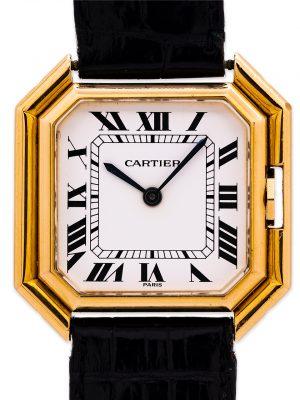 "Cartier Man's 18K YG ""Ceinture"" Automatic circa 1980's 18K Deployment"