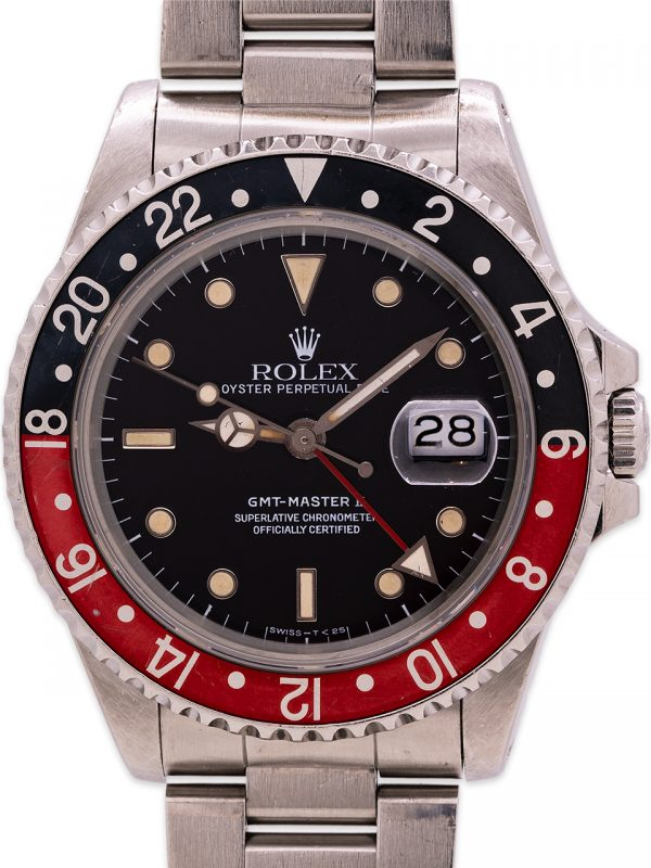 "Rolex GMT II ref 16710 ""Coke"" Tritium Lume circa 1989"