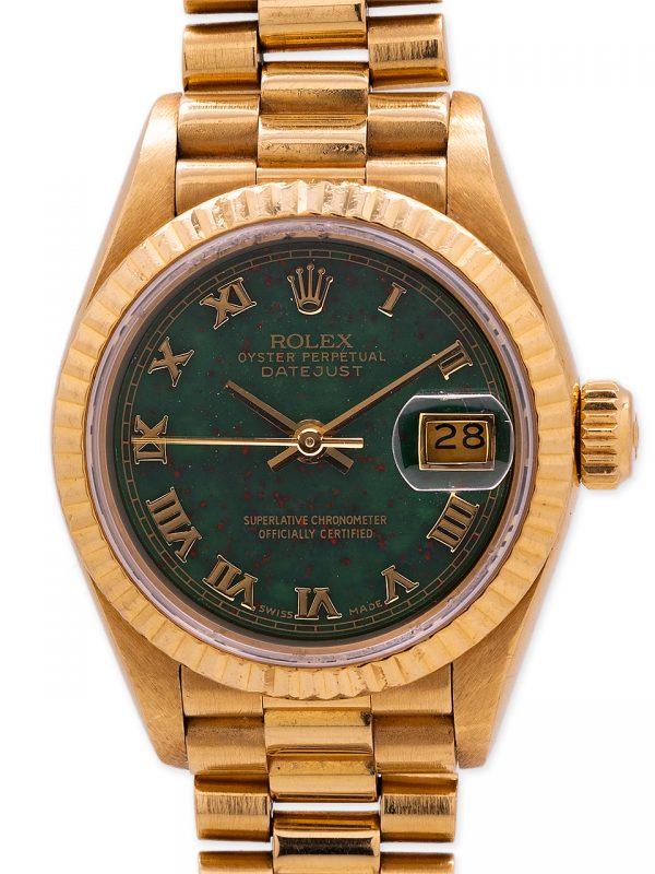 Rolex Lady President 18K YG ref 69178 Bloodstone Dial circa 1987