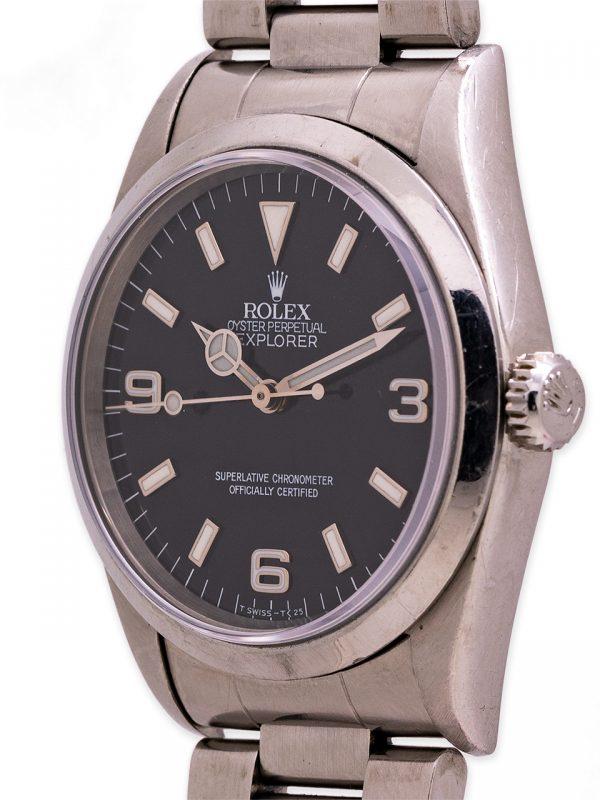 "Rolex Explorer 1 ref 14270 Scarce ""Frozen"" Tritium Dial circa 1995"