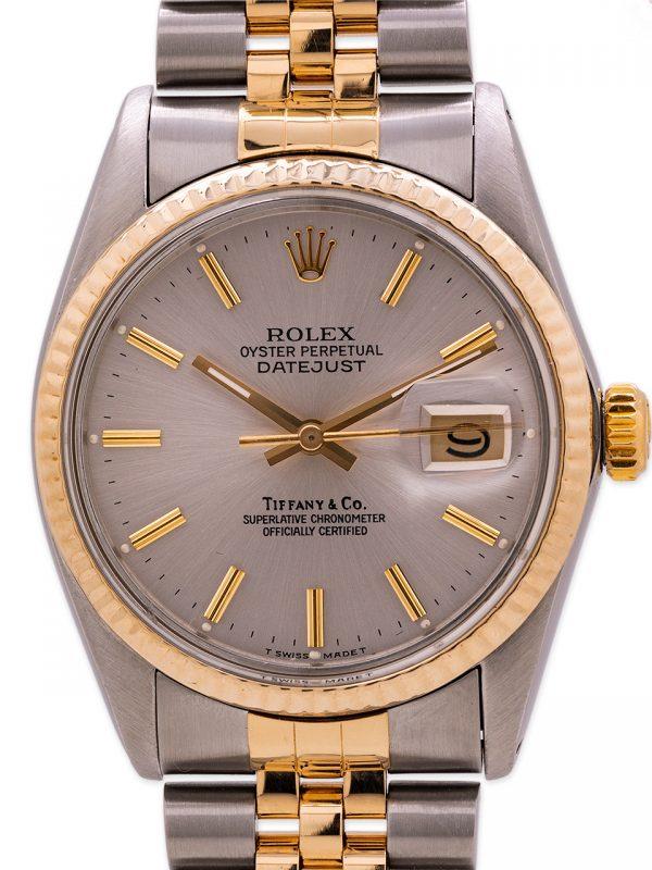 Rolex Datejust ref 16013 SS/18K YG Tiffany & Co. circa 1986