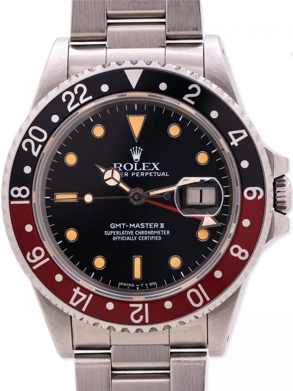 "Rolex GMT II ref 16760 ""Fat Lady"" circa 1984 ""Sophia Loren"" Full Set Museum Quality!"
