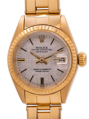 Lady's Rolex 18K Gold Oyster Perpetual ref 6917 circa 1973 with Papers