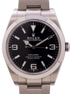 Rolex Explorer 1 ref 214270 39mm circa 2018 Mint with Box & Card