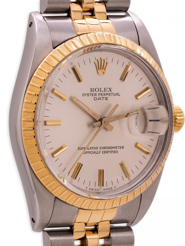 Rolex Oyster Perpetual Date ref 15053 SS/18K YG circa 1988 Box & Papers