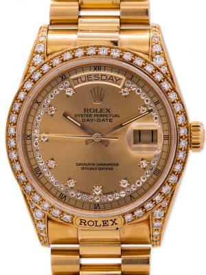 Rolex Day Date President Crown Collection 18K YG ref 18138 circa 1986