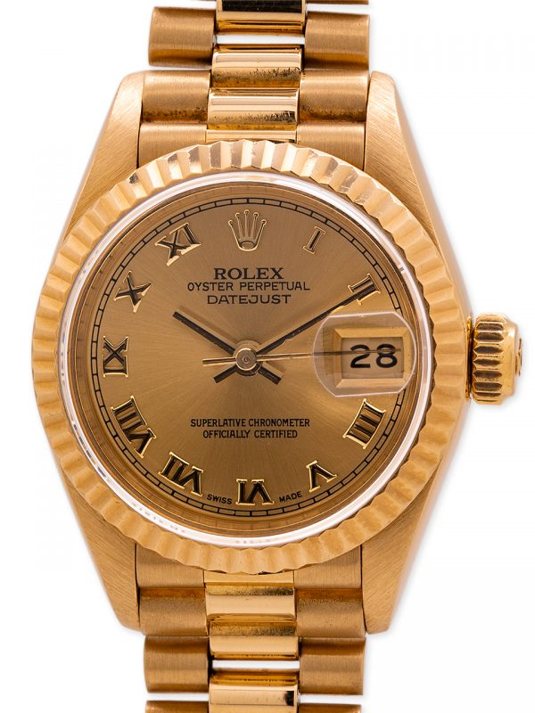 Rolex Lady President 18K YG ref 69178 circa 1990 with Papers