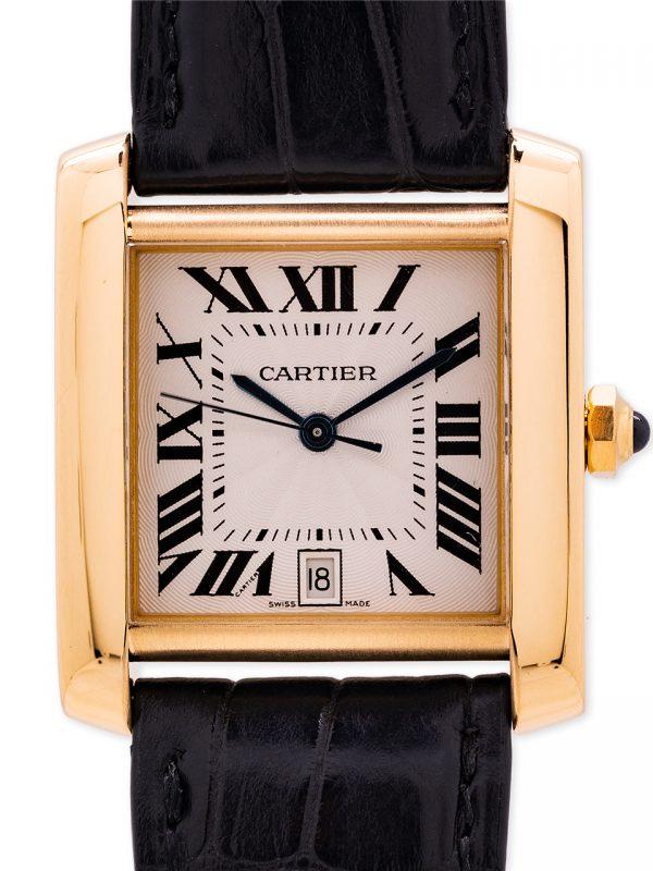Cartier Tank Francaise 18K YG Automatic circa 2000's