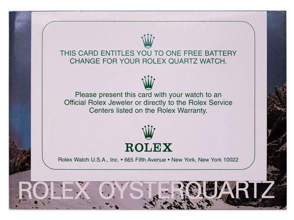 Rolex 18K YG Oyster Quartz Day Date  ref 19018 circa 1978 Box Booklet Tag