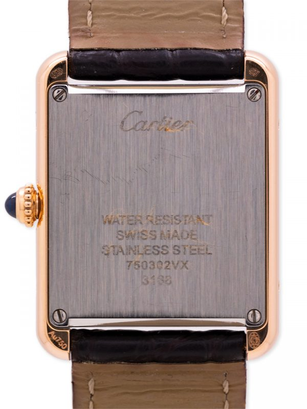Cartier Lady's Tank Solo ref 3168 18K PG circa 2010+ Box & Papers