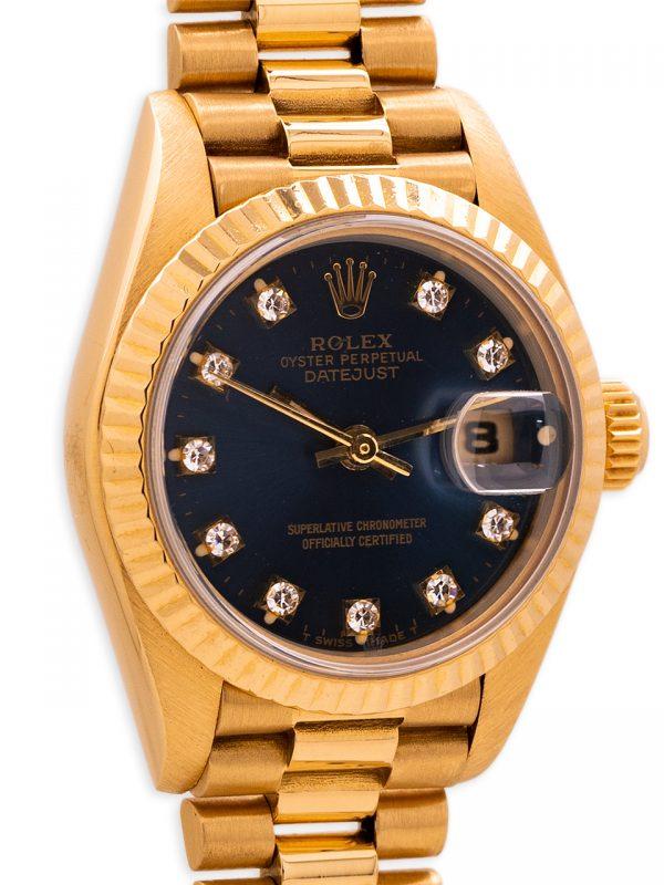 Rolex Lady President ref 69178 Blue Diamond Dial circa 1983