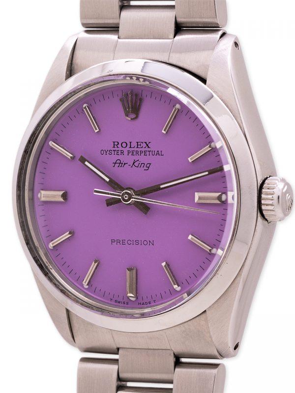 Rolex Airking ref 5500 Custom Lilac Dial circa 1987