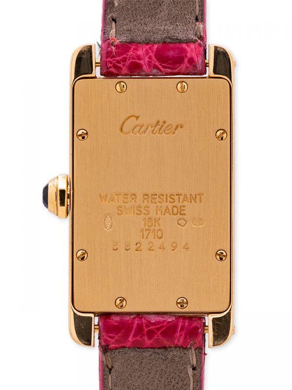 Cartier Tank American 18K YG Lady's ref 1710 circa 2000