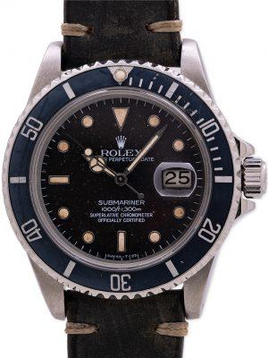 """Rolex Submariner ref# 168000 Transitional """"Mr. Goodbar"""" circa 1987"""