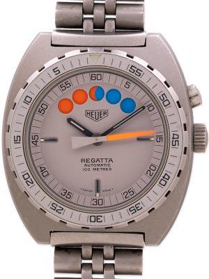 Heuer Regatta Chronograph Pewter PVD circa 1980's