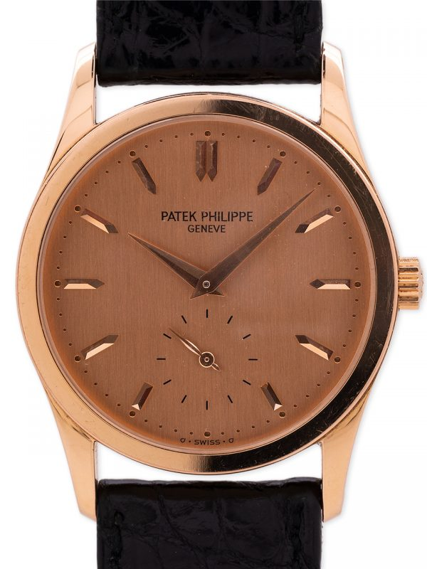 Patek Philippe Calatrava 18K Rose Gold 3796R circa 1990's