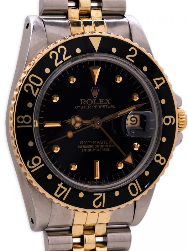 Rolex GMT ref 1675 SS/14K YG circa 1979