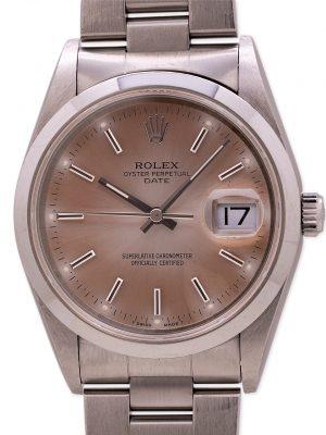 Rolex Oyster Perpetual Date ref 15200 Tropical Quick Set circa 1996